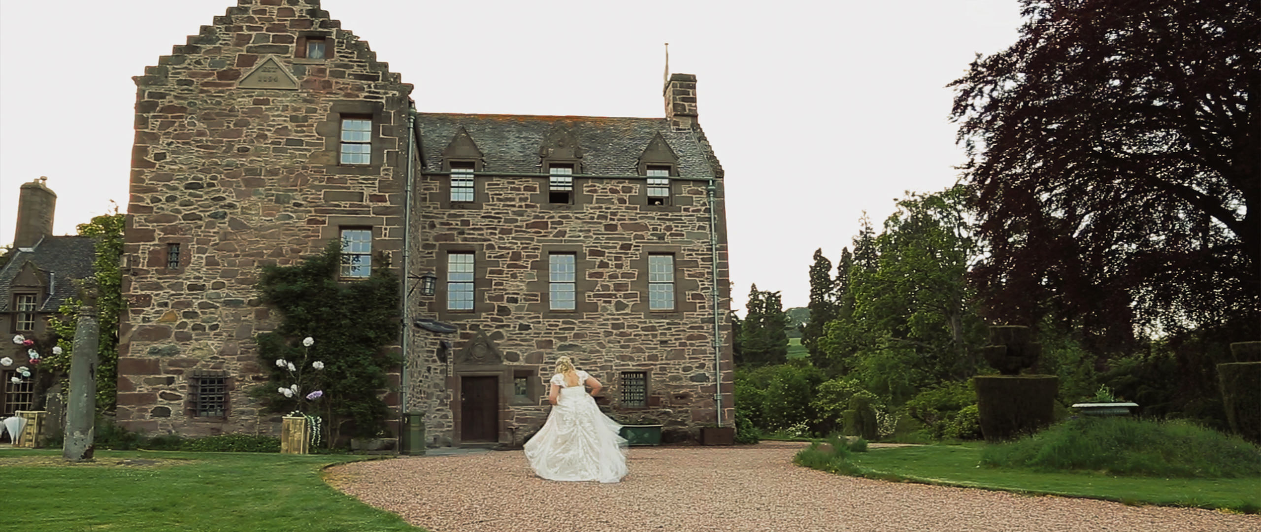 Bride at her wedding in Fingask Castle