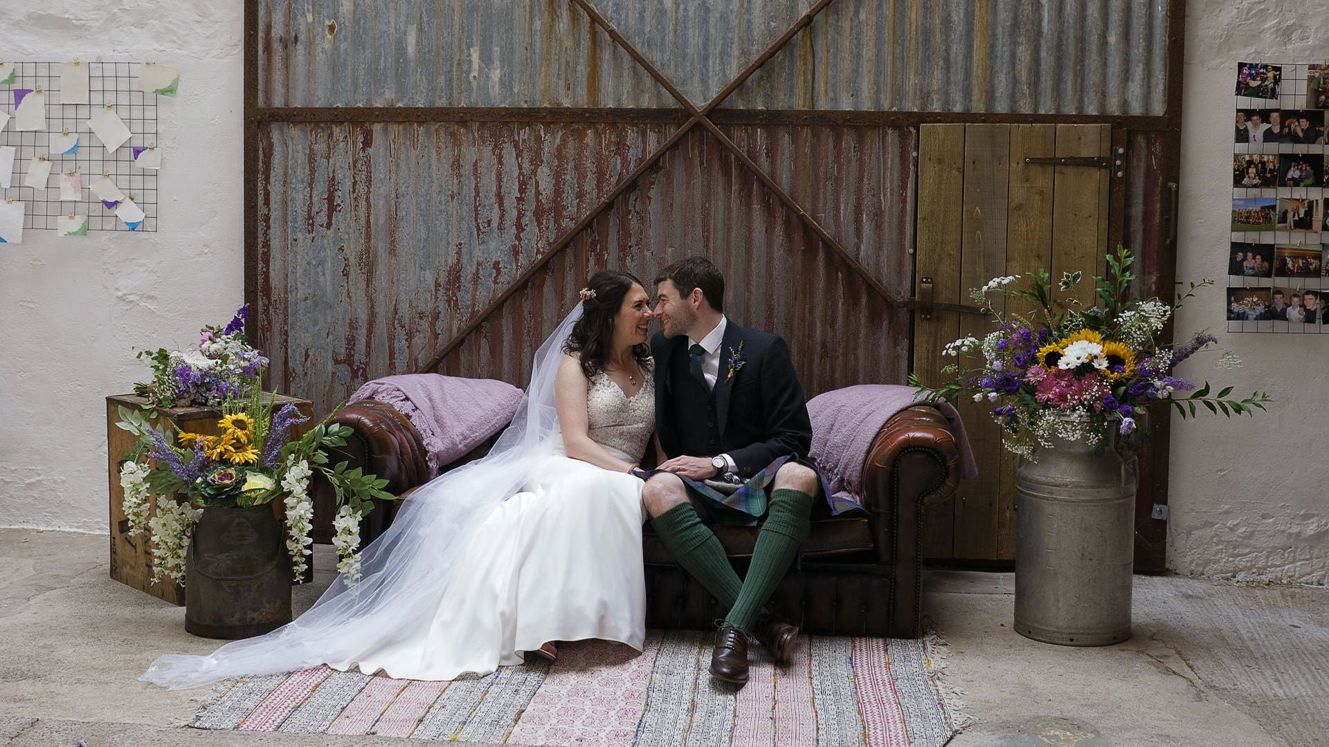 The Cow Shed Crail wedding videographer 5