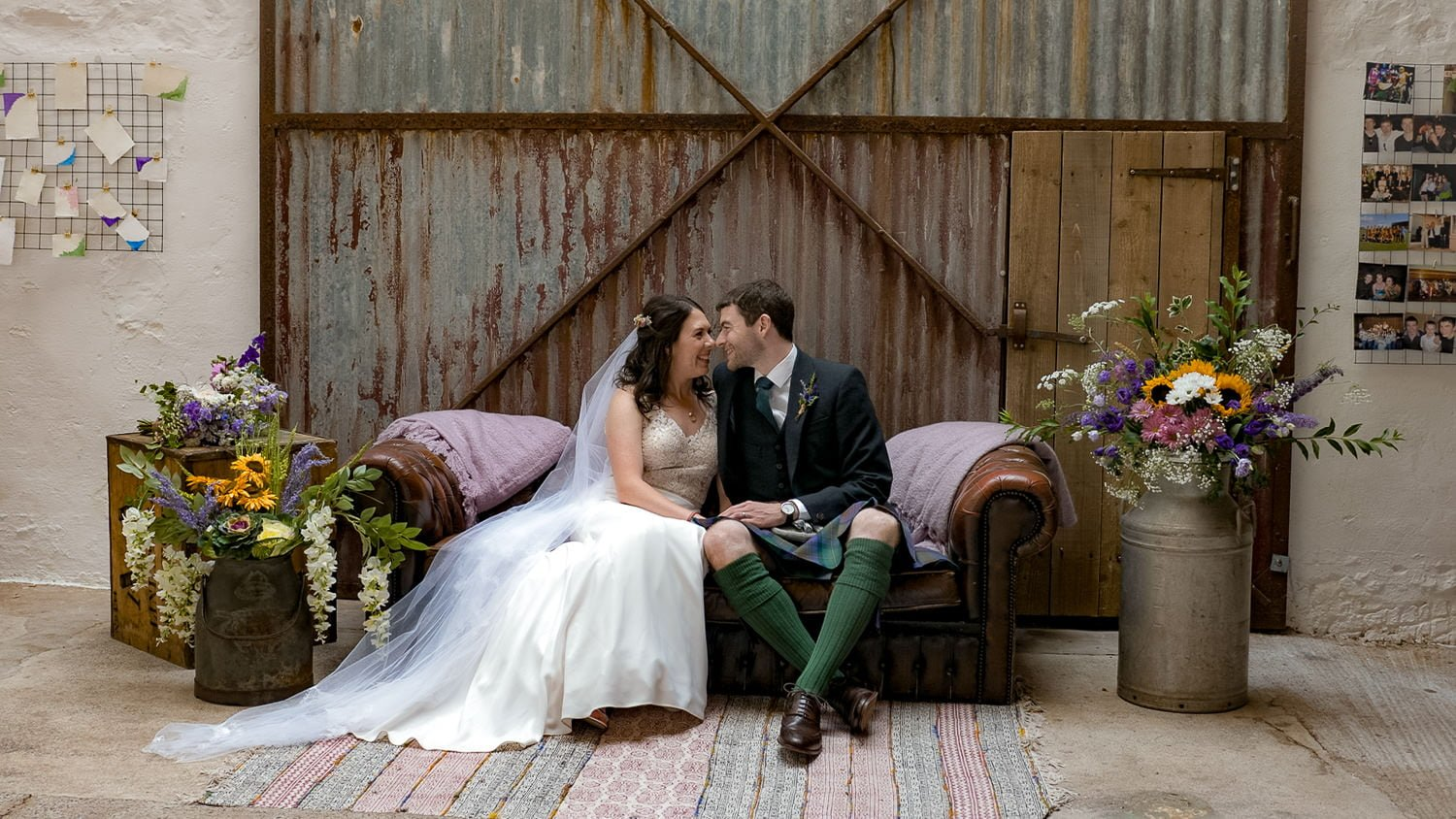 The Cow Shed Crail wedding